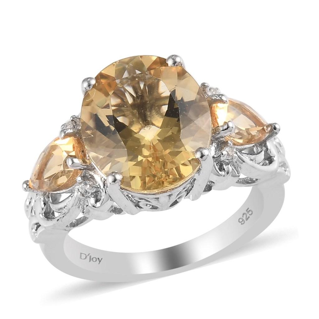 Yellow gemstone trinity ring.