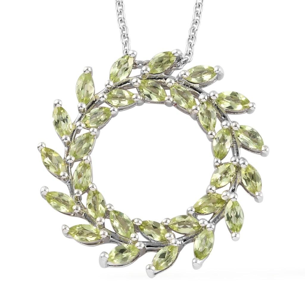 arizona peridot circle necklace