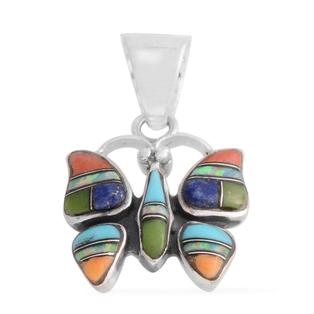 Butterfly pendant in sterling silver.