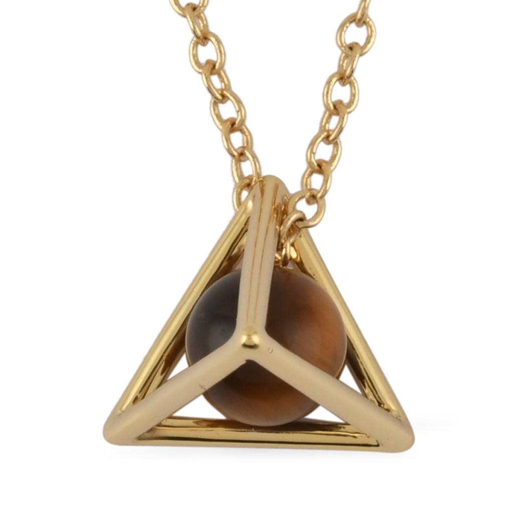 Tiger's eye pyramid pendant.
