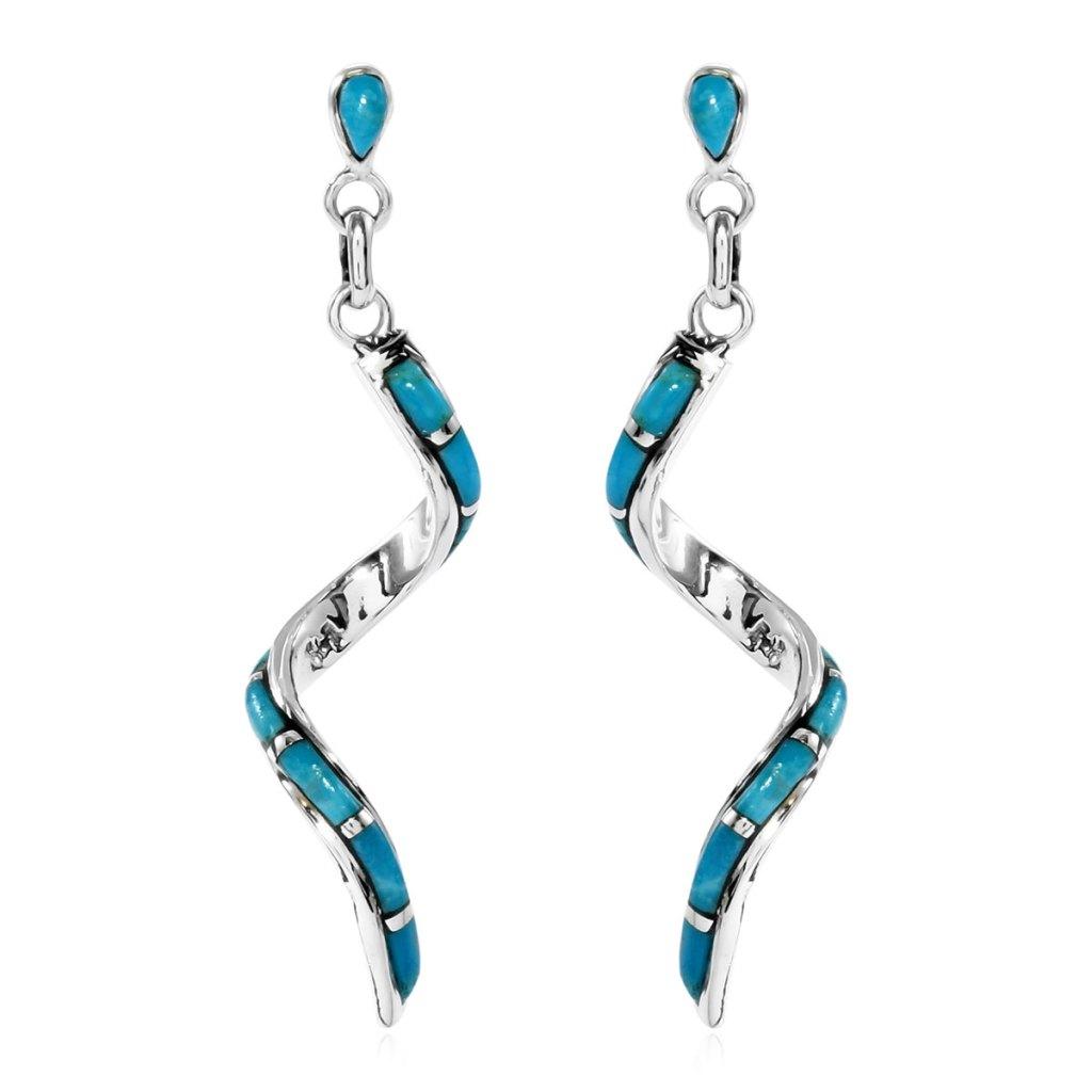 Turquoise dangle earrings.