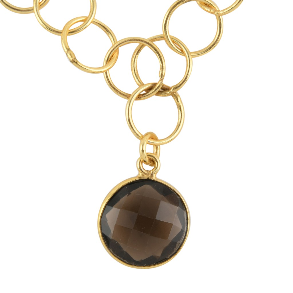 Smoky quartz unity necklace.