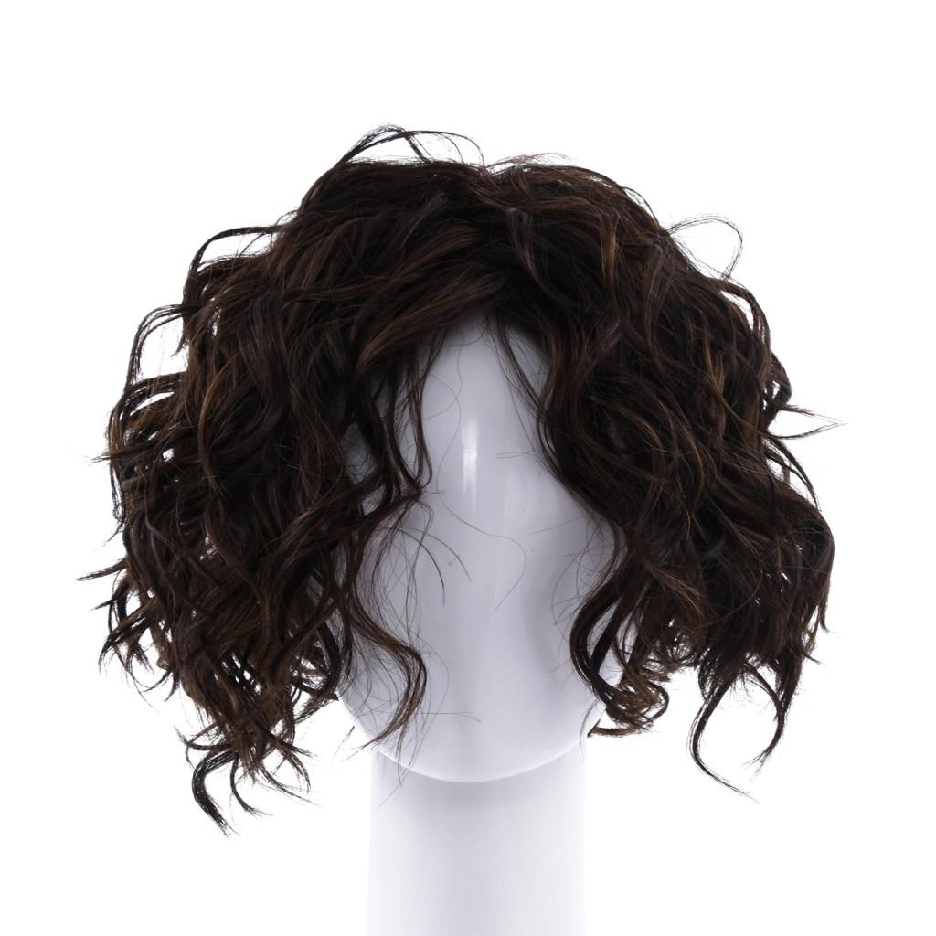 Dark chocolate color wig.