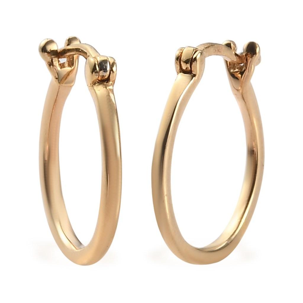 Hoop Earrings in Vermeil Yellow Gold Over Sterling Silver