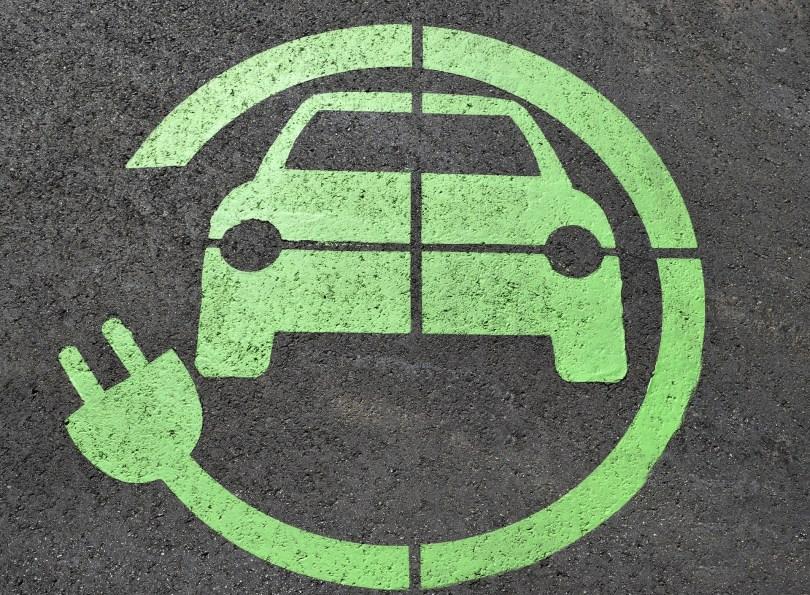 simbolo de coche eléctrico