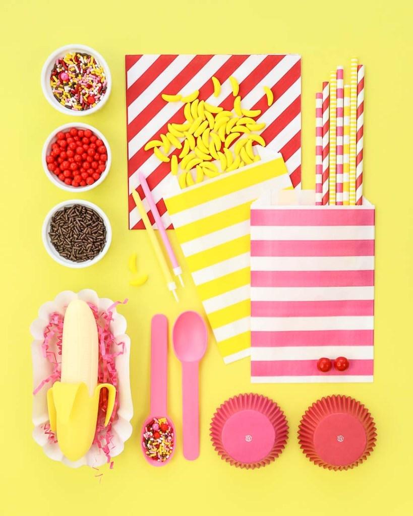 Banana Split Party Ideas Board   Sweets & Treats