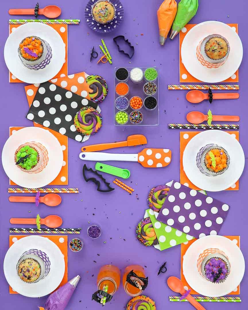Batty Bakery Kids Halloween Party Ideas Table