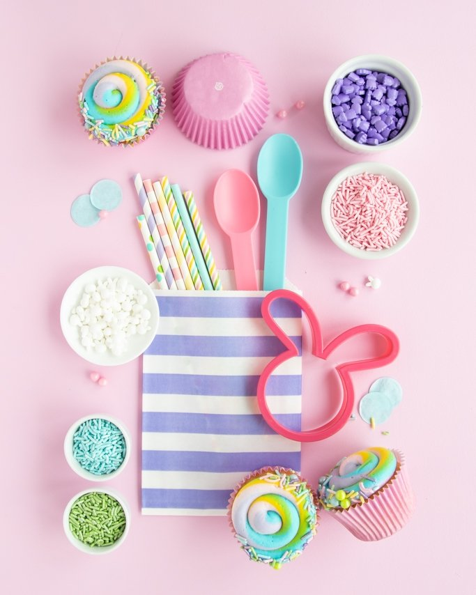 Easter Party Supplies - Pastel Easter Party Ideas collage on pink background