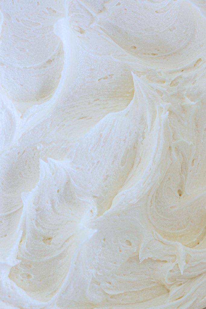 Buttercream frosting closeup