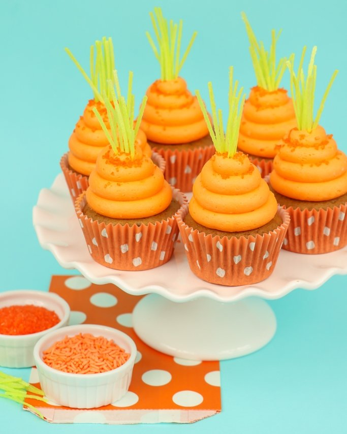easter cupcakes that look like carrots
