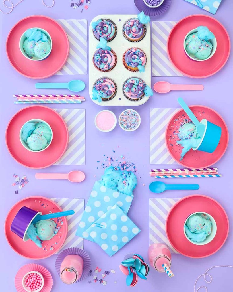 Cotton Candy Table - Party Ideas - Sweetscape Instaparty