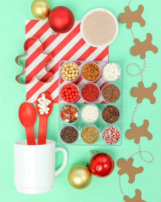 Christmas cookie sprinkles - cocoa cookies sprinkle kit
