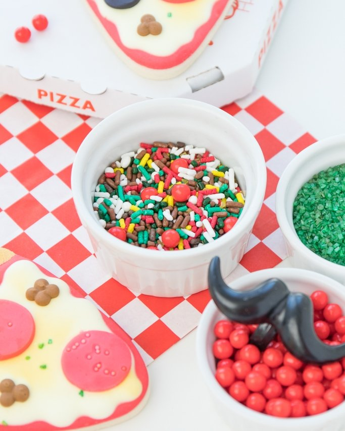 Pizza party ideas - Pizza Parlor Sprinkles Mix