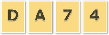 [D] [A] [7] [4]