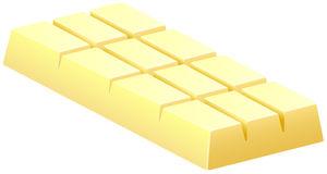 White Chocolate Bar On White Stock Vector - Illustration of ...