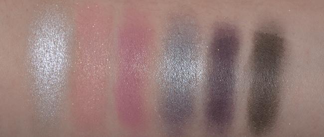 L to R: Pearl, Pink, Lavender, Violet, Purple, Black.