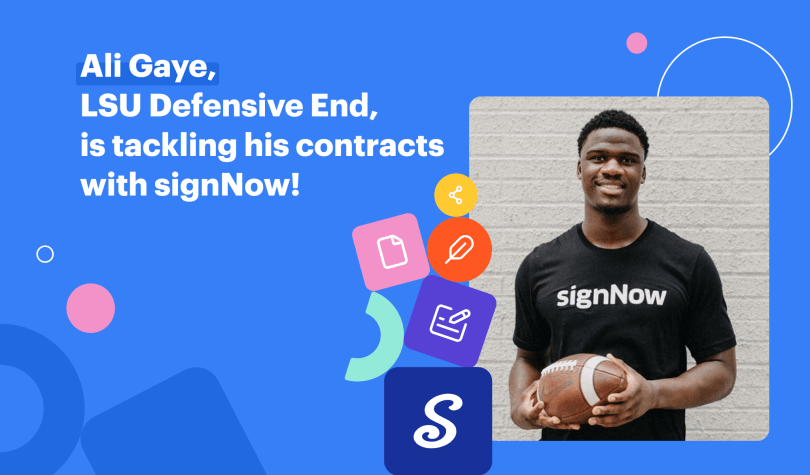 Ali Gaye LSU defensive end is tackling his contracts with signNow
