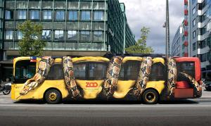 Copenhagen Zoo Bus Wrap Ad