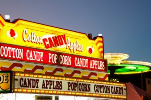 Carnival and arcade signs