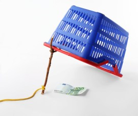 shopping basket - consumer trap concept