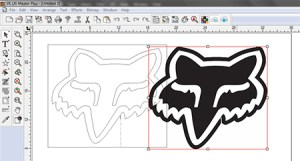 FIG 2: Auto tracing is essential for turning jpeg files into cuttable decals