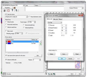 LXI 12 vinyl cutting software includes tools for optimizing the performance of your vinyl cutter