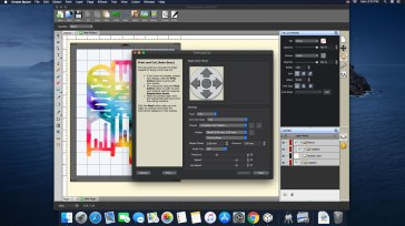 Create Space GUI showing print and cut workflow