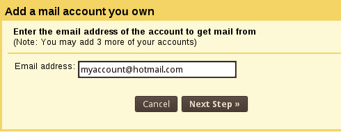 GMail Add your account