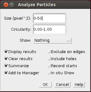 ImageJ - Analyze Particles tool