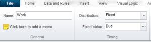 screen shot of setting process time