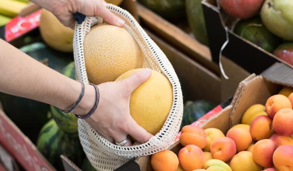 Bolsas de red de algodon organico