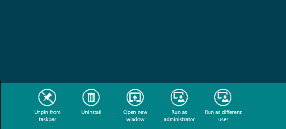 Run as different user in Start menu of Windows 8