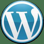 WordPress logo blue