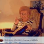 Babica bere tvite
