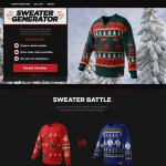Design own Xmas sweater for Coke Zero
