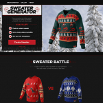 Design own Xmas sweater for Coke Zero