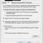 DHCP ne posodablja DNS zapise samodejno