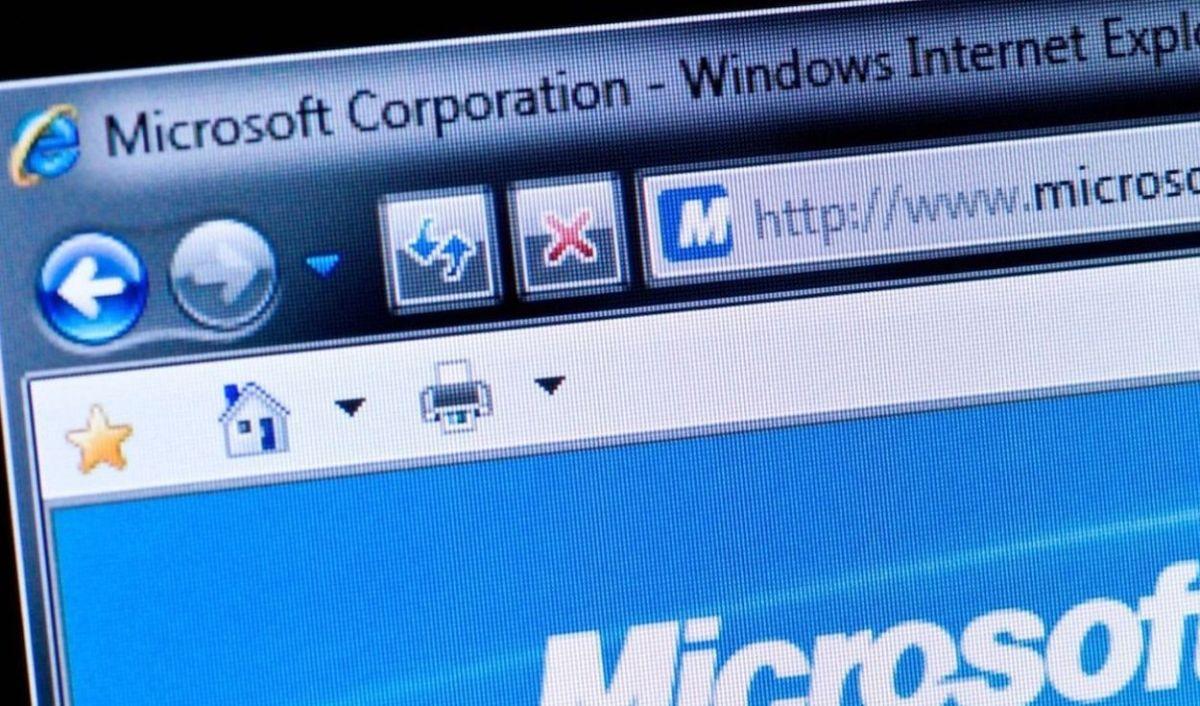 Captura de la barra de navegación de Internet Explorer