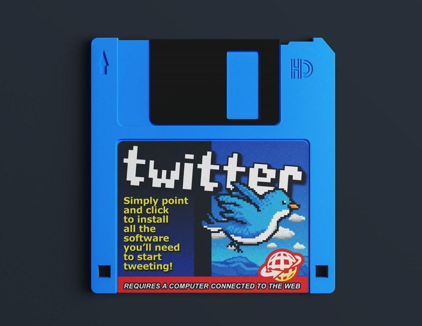 Twitter en un diskete.