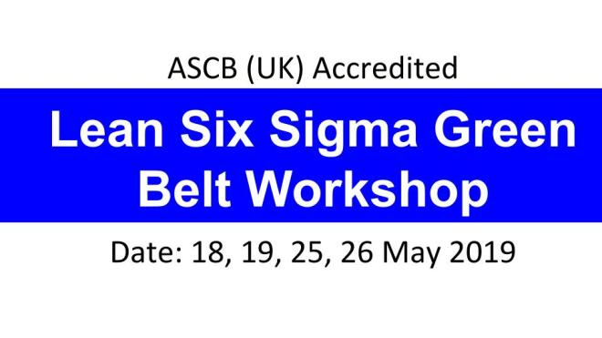 Six Sigma Green Belt, SSGB, Lean, OpEx