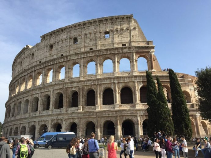 The roman Colosseum after the restoration (April 2016)