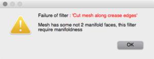 meshlab manifold error