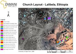 Figure 2: Map layout showing the churches of Lalibela, Ethiopia. Beta Giorgis sits on its own in the East of the map whereas Beta Emmanual lies on the far East of the Eastern group.