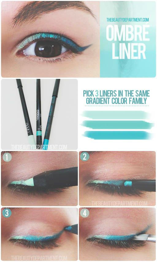 ombre eye liner tutorial