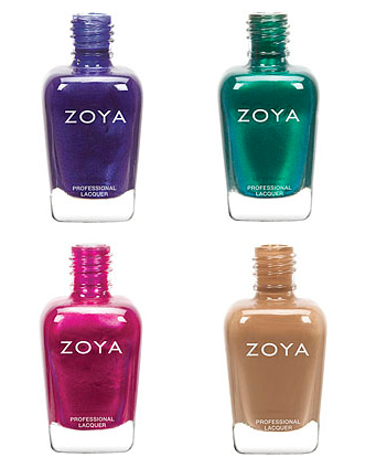 zoya fall nail polish collection pink green purple nude