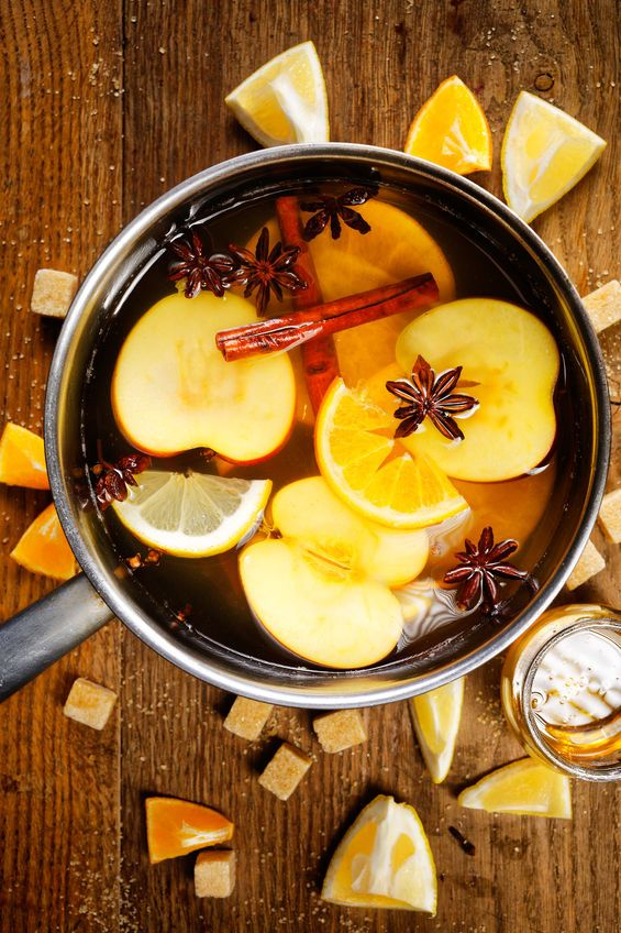 47106070 - mulled cider in a pot