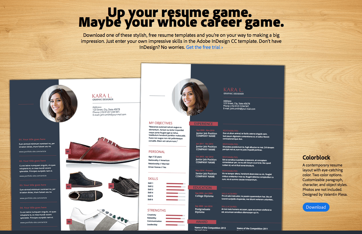 100 Adobe Indesign Resume Template Assistant Interior