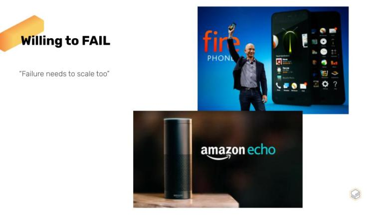 Amazon's Core Values: Willing To Fail | Skooldio Blog - Tech Giants: How culture shapes the way they do things