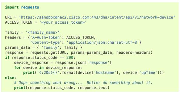 Python requests Cisco DevNet Associate Exam