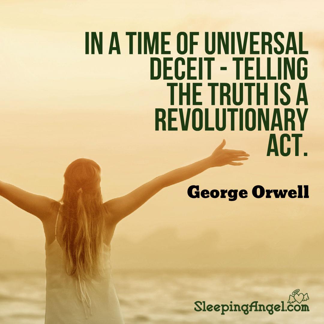 George Orwell Quote Sleeping Angel